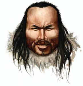 An artist's impression, provided by Nature.com, of the man nicknamed Inuk.