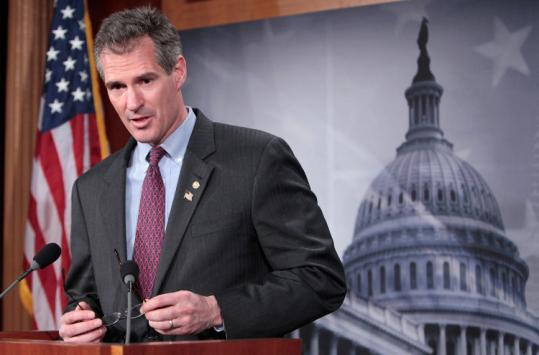 Senator Scott Brown could command a six-figure advance, publishing specialists said.