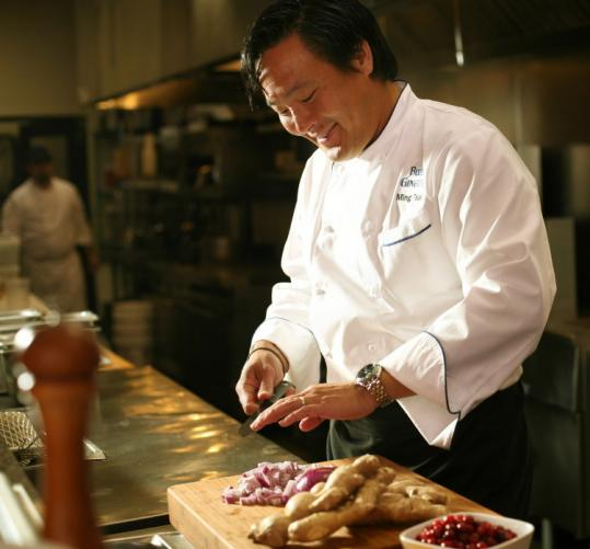 Ming Tsai, the renowned chef of Blue Ginger in Wellesley, helped create an instructional video for restaurant workers so they can address the needs of patrons with food allergies.