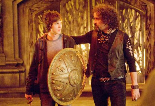 "Logan Lerman (left) stars as Percy Jackson, the demigod son of Poseidon, and Steve Coogan stars as Hades in ""Percy Jackson & the Olympians: The Lightning Thief.''"