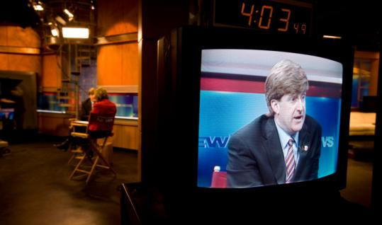 US Representative Patrick Kennedy took to the airwaves to discuss his decision not to seek reelection.