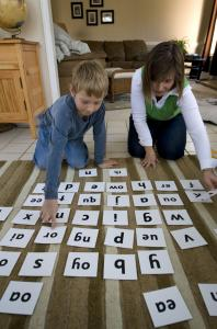 Julie Ross helped her son Andy with spelling and language while home schooling in their Durham, N.C., residence.