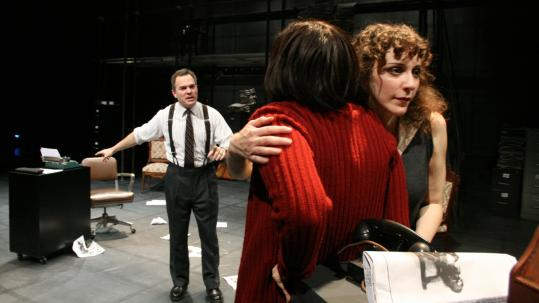 "From left: Craig Mathers, Anne Gottlieb, and Marianna Bassham in ""Not Enough Air'' at Central Square Theater."