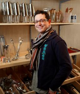 Adam Lantheaume is the owner of the Boston Shaker, a cocktail supply store.