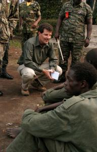 Nicholas Kristof of The New York Times travels to hot spots around the globe reporting on humanitarian crises.