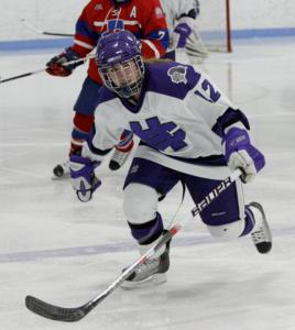 "Freshman Rebecca O'Quinn of Arlington has impressed Holy Cross coach Peter Van Buskirk. ""She has the skill set, the skating ability, and an awareness of the ice,'' he said."