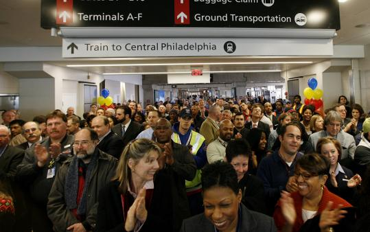 Southwest marked the expansion of Terminal E at Philadelphia's airport yesterday. It will start a route to Boston in June.
