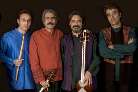 The Masters of Persian Music: Siamak Jahangiry, Kayhan Kalhor, Hamid Reza Nourbakhsh, and Hossein Alizadeh.