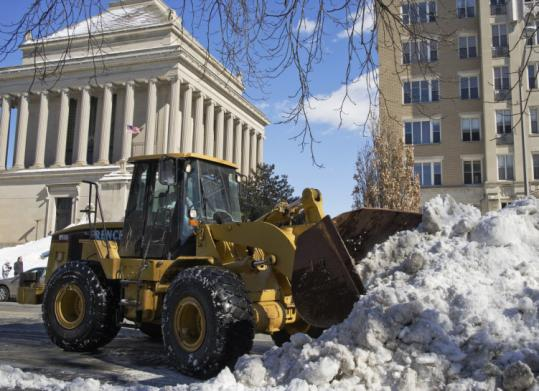W.L. French Jr. Trucking of North Billerica cleared snow in Washington, D.C., answering the call, along with other companies, to help dig