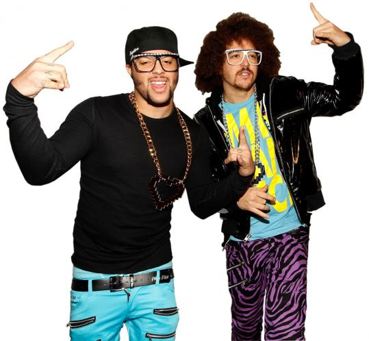 Sky Blu (left) and Redfoo of LMFAO.
