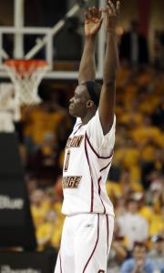 Reggie Jackson was up in arms, yet not the least bit upset, in the second half of BC's victory over North Carolina.