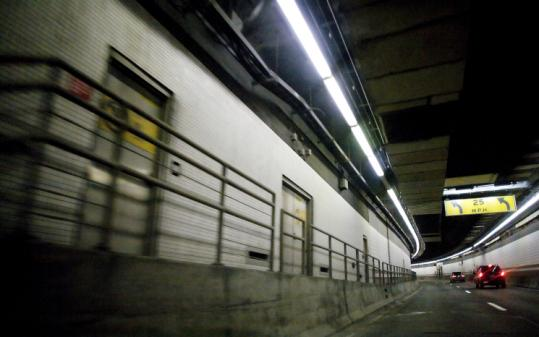 Seven of nine people killed in crashes in the Big Dig tunnel system between 2004 and 2008 died after hitting handrails.