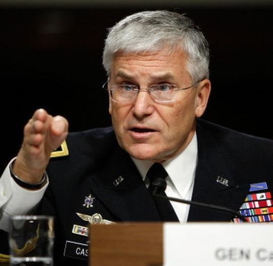 General George Casey testified before the Senate Armed Services Committee.