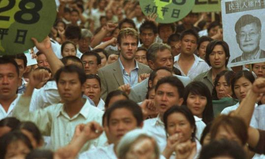 "In ""Formosa Betrayed,'' James Van Der Beek (center) plays an FBI agent sent to Taipei to investigate the murder of an outspoken Taiwanese-American professor."