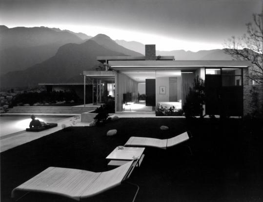"Julius Shulman photographed ""Kaufmann House,'' seen in the documentary ""Visual Acoustics.''"
