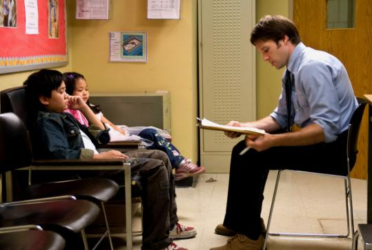 """Michael Chen and Crystal Chiu in """"Children of Invention'' (with Kieran Campion, right)."""