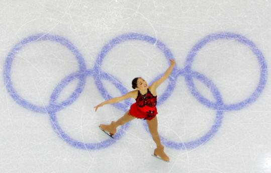 American Mirai Nagasu, 16, connected in her routine for fourth place in her first Olympics.