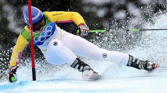 Germany's Viktoria Rebensburg stayed low and in control en route to her first Olympic gold.
