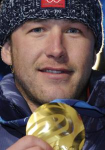 Bode Miller on Feb. 21 at the medal ceremony for the men's Super Combined.