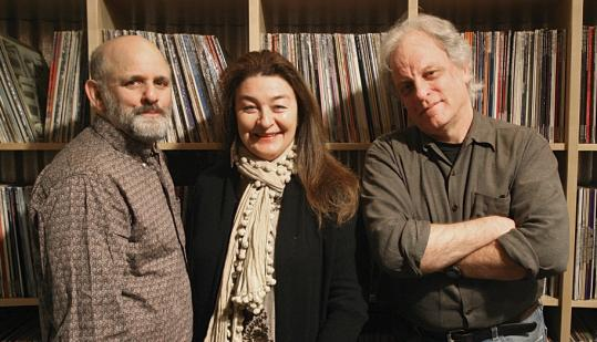 Rounder Records owners Ken Irwin, Marian Leighton Levy, and Bill Nowlin.