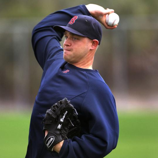 General manger Theo Epstein believes Michael Bowden (above) could be in the Red Sox bullpen mix this season.