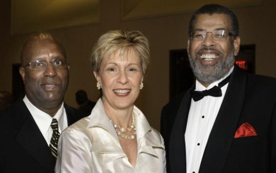From left. Darnell Williams of Roxbury, CEO of the Urban League of Massachusetts; Suzanne Bump of South Boston; and Cleve Killingsworth, CEO of Blue Cross and Blue Shield of Massachusetts.