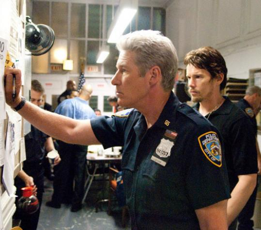 "Richard Gere (left) and Ethan Hawke star in the interwoven dramas of ""Brooklyn's Finest.''"