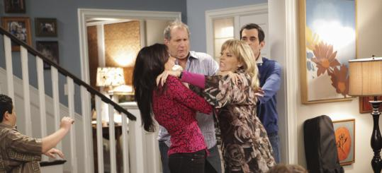2009: MODERN FAMILY Rico Rodriguez, Sofia Vergara, Ed O'Neill, Shelley Long, and Ty Burrell (from left) in a show that features diverse family structures.