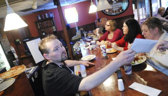 "Todd Rotondo, co-owner of Cafe Salerno in Beverly, supported the additional 0.75 percent meals tax the city approved recently: ""I live in the city, so I look at it from the aspect f revenue that will help the shortfall from the state level.''"