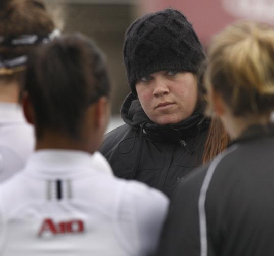 UMass players say women's lacrosse assistant coach Amanda Belichick is a good listener.