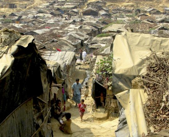 About 30,000 unregistered Burmese refugees are effectively quarantined at the makeshift Kutupalong camp.