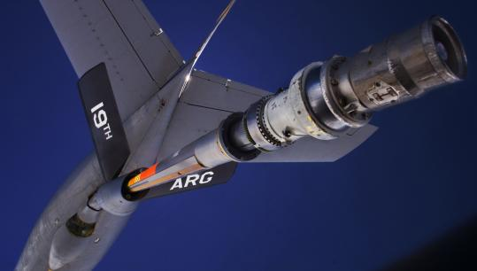A KC-135 Stratotanker, made by Boeing Co., refilled a US Air Force B-52 bomber. Boeing is now the sole bidder for a $35 billion refueling tanker program upgrade after Northrop Grumman Corp. left the running on Monday with some consternation.
