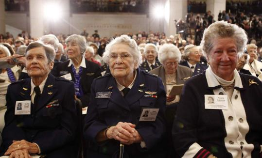 About 200 women who served as Airforce Service Pilots were present to receive the highest civilian honor given by Congress.