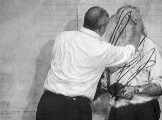 """South African artist William Kentridge at work in """"7 Fragments for Georges Méliès.'"""