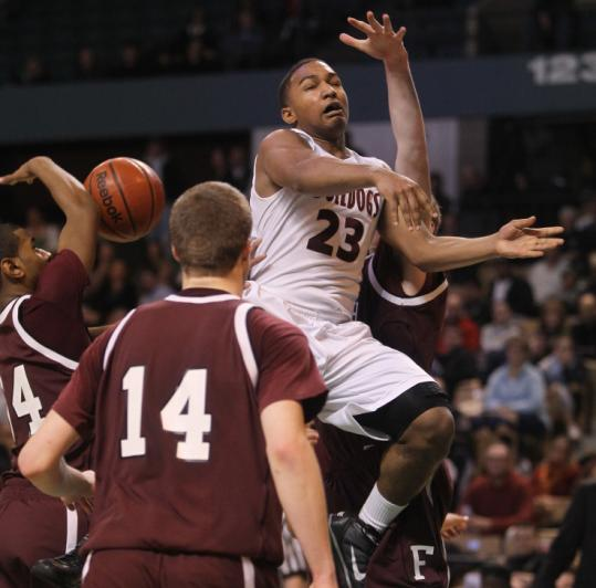 Falmouth had no answers for Sabis International's Andre King, who scored 30 of his 37 points in the first half.