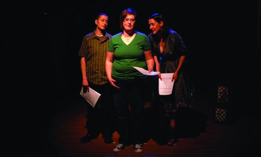 "Mal Malme, Renée C. Farster, and Kathy Wittman in Queer Soup Theater's production of ""We All Will Be Received.''"