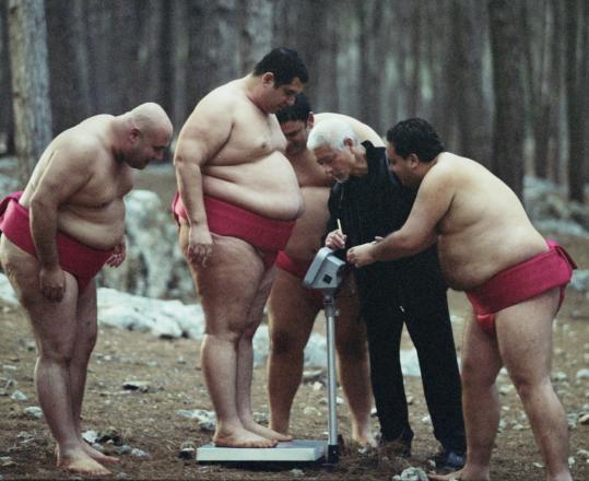 "In ""A Matter of Size,'' four Israeli friends become amateur sumo wrestlers."