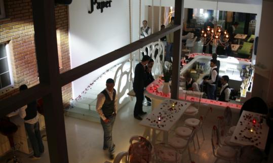 The Paper Club is a slick, minimalist bar in Pristina's Pejton neighborhood.