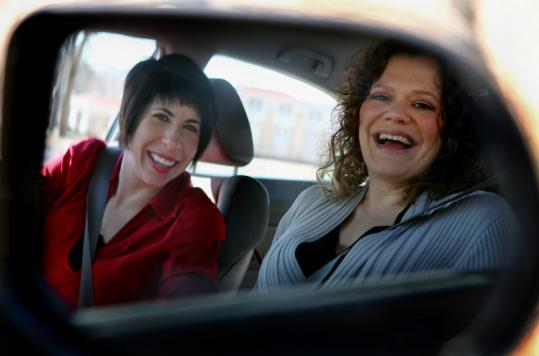 "Susan Lombardi (right) of Dorchester nominated her friend Sheryl Faye of Salem to be featured on ""America's Worst Driver.''"
