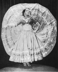 Jane Sherman performed her own Nautch dance in 1927 after returning from the Denishawn Far East tour.