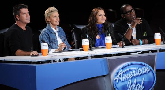"""American Idol'' shake-ups have left viewers debating the judges' personalities. From left: Simon Cowell, Ellen DeGeneres, Kara DioGuardi, and Randy Jackson."