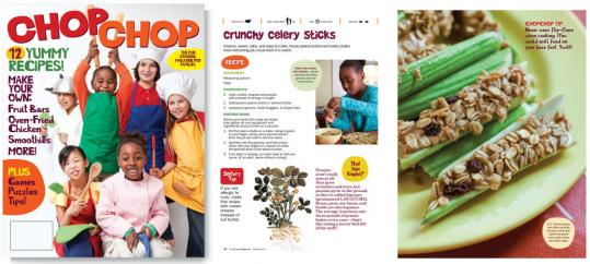 The debut issue of ChopChop includes 11 recipes, as well as cooking tips.