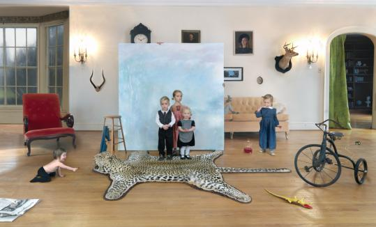 """Children are enchanting protagonists in Julie Blackmon's large-scale images. Above: """"Portrait, 2009'' at Robert Klein Gallery."""