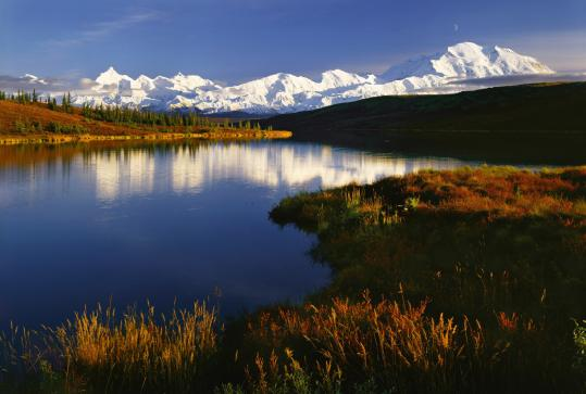"The National Heritage Museum is displaying Quang-Tuan Luong's photos of each of the 58 national parks. Pictured: ""Wonder Lake, Denali National Park.''"