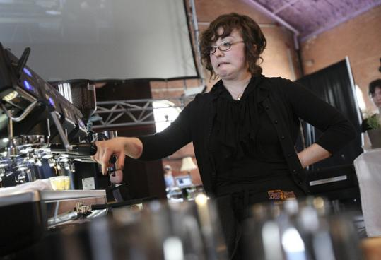 Danielle Glasky, from Stumptown Coffee Roasters in Lower Manhattan, took top honors at the Northeast Regional Barista Competition held in Somerville this month.