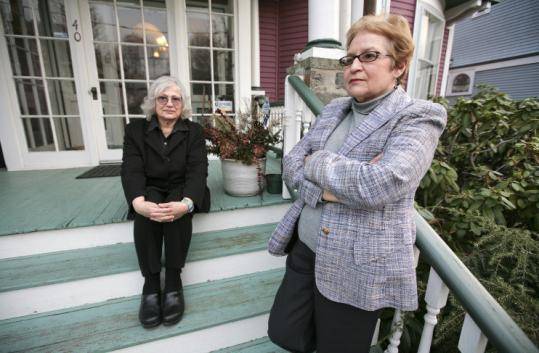 Brookline residents Nancy Heller (left) and Eunice White have proposed a bylaw to level civil penalties against noisy parties.