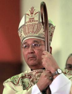 Bishop Manuel Moreno, shown in 2002, requested an evaluation to determine if the Rev. Robert Trupia could continue his career as a priest in good standing.
