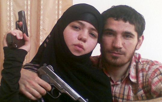 Dzhennet Abdurakhmanova, shown with her husband, Umalat Magomedov, was one of the bombers, a Russian paper said.