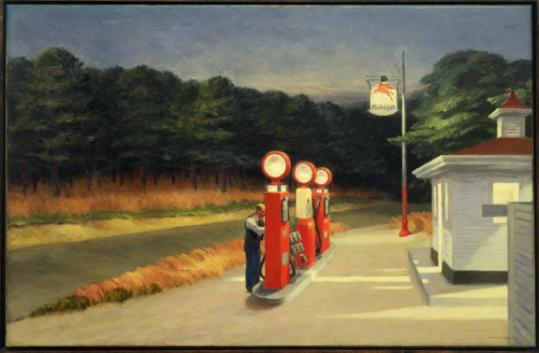 "The fate of Edward Hopper's ""Gas"" station 