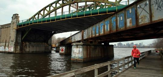 Design plans for all Charles River bridges should include pedestrian underpasses, such as this one under Boston University Bridge.